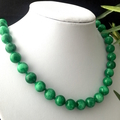 Swirl Green Genuine JADE (Nephrite) Classic Necklace.