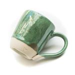 Coffee mug - metallic seafoam green