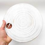 Rustic white ceramic cheese serving platter