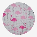 "FLAMINGO FABRIC WOODEN LETTER ""O"" CLOCK"