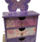 Butterfly Storage  Organiser Keepsake Trinket Treasure Jewellery Wooden Drawers
