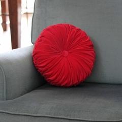Vintage Style Hot Pink Velvet round cushion-FREE POST