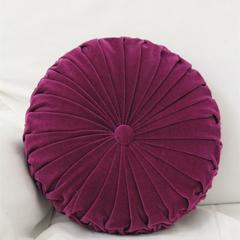 Vintage Style Purple Velvet round cushion - Free Post within Aust