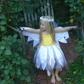 White Daisy Dress with wings and circlet