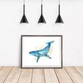 Watercolour Whale Instant Download Printable Art | A3, A4 & A5