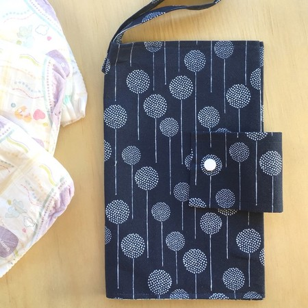 Nappy Wallet | Blue with simple white pattern