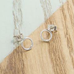 Mini Circle Studs || Sterling Silver, Handmade, Craft, Jewellery, Perfect Womens