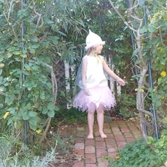 Pale Pink Gumnut Fairy dress and hat