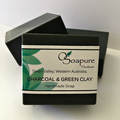 Charcoal & Green Clay Cold Process Soap with Tea Tree and Lavender Essential Oil