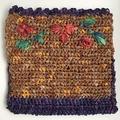 Raffia Embroidered Purse