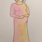 A5 Custom Pregnancy Celebration Portrait