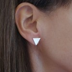 Triangle Studs || Sterling Silver, Handmade, Craft, Jewellery, Perfect Womens Gi