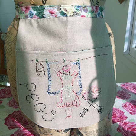Linen Peg Apron.... that is a little different...