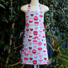 Child's Apron in Pretty Cupcake Fabric (Size Medium)
