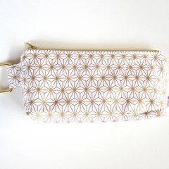 gold zippered pouch