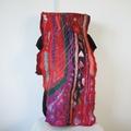 Felted Scarf Wool Silk   Red