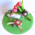 Pre-tied Jute Bow Burlap Raffia Floral Gift Wrapping Decor Button  Eco-friendly