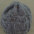 Wool blend baby beanie, hat. Age range 3-6mth (blue), 6-12 mth (pink). Hand knit