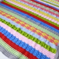 Crochet baby sampler blanket | colour stripes, shower gift, travel rug, keepsake