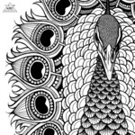 """Tribal Peacock"" Original Illustration Printable Wall Art"