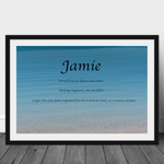 Boys Name Meaning / Name Origin Personalised Print | Various Backgrounds
