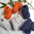 Made to Order - Cable Booties - Hand Knitted - Pure Merino Wool