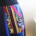 Blue Corduroy Skirt, Winter Skirt, Blue Aline Skirt, Corduruoy Pocket Skirt,