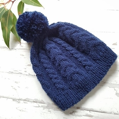 Made to Order - Cable Beanie - Hand Knitted - Wool