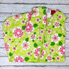 Green Floral Baby Sleeping Bag 6-18 months 0.5 tog READY MADE