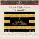 DIGITAL Printable Party Candy Backdrop Gold Glitter Sparkle Princess
