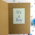 'Joy - It's a Boy' Card for a New Baby
