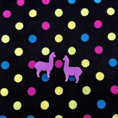 Little Pink Llama Stud Earrings