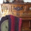 Versatile Wrap or Knee rug, Lapghan, small crochet throw.   Wool blend.