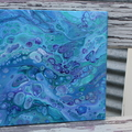 Acrylic abstract painting  - 'Splash' - fluid art - acrylic pour - original -