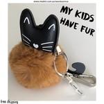 MY KIDS HAVE FUR - keyring/bagcharm
