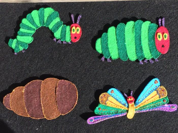 Caterpillar Felties Set of 3 Felties Hungry Caterpillar Felties Caterpillar