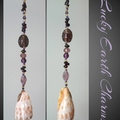 Purple Seashell Lucky Earth Charm Sun Catcher