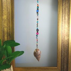 Colourful Seashell Lucky Earth Charm Sun Catcher