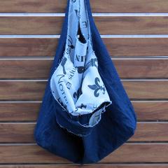 Market Bag - Frayed Denim