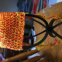 Crocheted Ear Flap Hat 6-12 Months