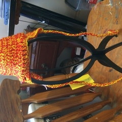 Crocheted Ear Flap Hat Newborn
