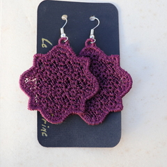 Casablanca - Embroidered Lace Earrings