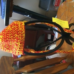 Crocheted Ear Flap Hat 3-6 Months
