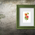 Watercolour Nasturtiums Instant Download Botanical Wall Art | A3, A4 & A5