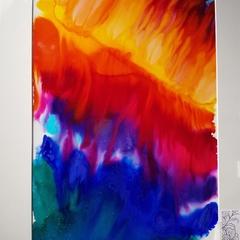 Rainbow Fire Original Painting