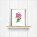 Watercolour Begonia Instant Download Printable Floral Wall Art | A3, A4 & A5