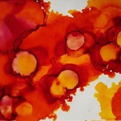 Orange Splash - Original Painting