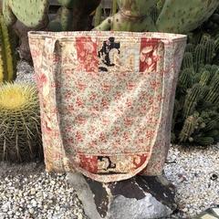 Large quilted Tote, Craft bag, Market Bag, cross body, shoulder bag