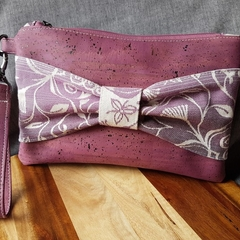 Purple bow clutch