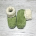 Made to Order - Sock Top Booties - Hand Knitted - Pure Merino Wool